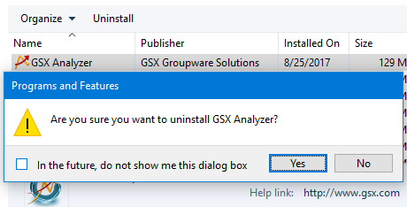 GSX Analyzer Database Version Is Incompatible With Web