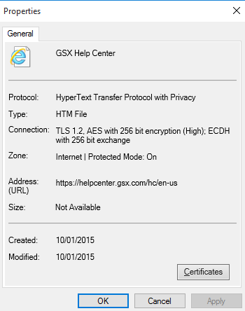 How to identify the Cipher used by an HTTPS Connection – GSX Help Center