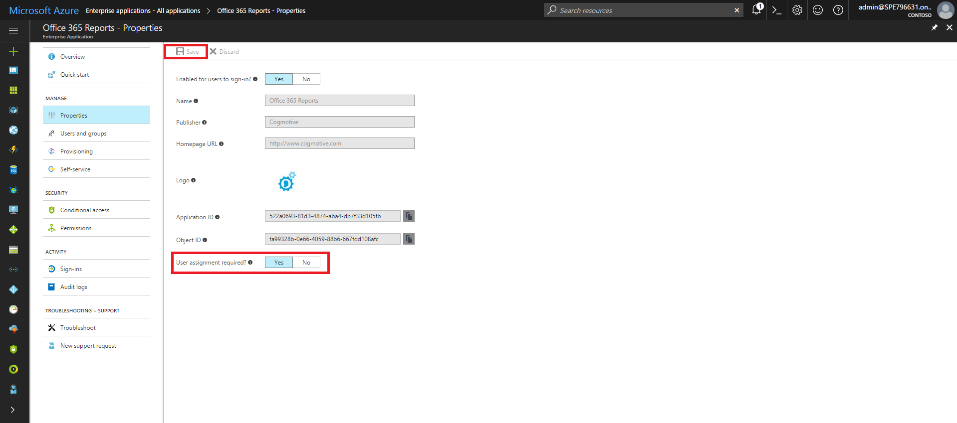 How to enable single sign-on for your GSX 365 Usage account